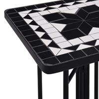 VidaXL Bijzettafel mozaïek keramiek zwart en wit