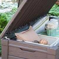 Keter Opbergbox Brightwood 455 L taupe