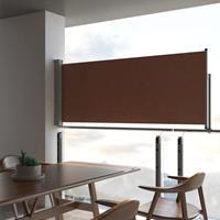 vidaXL Tuinscherm uittrekbaar 100x300 cm bruin