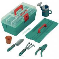 Klein Bosch Tuinierskist met gereedschap groen 8-delig