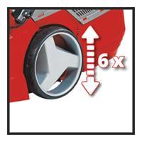 Einhell GE-CM 43 Li M Kit Duwgrasmaaier Zwart, Grijs, Rood Batterij/Accu
