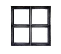 Westwood Stalen raam | Vast | 25 x 25 cm | Dubbel glas | Zwart gecoat