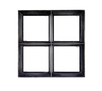 Westwood Stalen raam | Vast | 30 x 40 cm | Dubbel glas | Zwart gecoat
