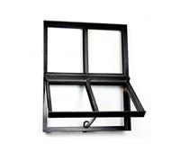 Westwood Stalen raam | Openklapbaar | 40 x 40 cm | Dubbel glas | Zwart gecoat