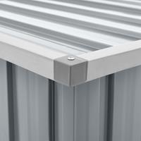 vidaXL Tuinbox 109x67x65 cm grijs