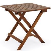 EezyLife Houten bijzettafel - Tuintafel - Acacia hout - 46x46x46cm