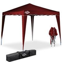 Deuba Vouwpaviljoen. party tent  Capri - Popup donkerrood3x3m