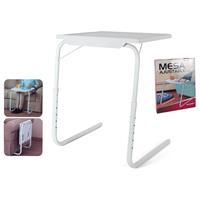 Gerimport Multifunctionele inklapbare bijzettafel - 52x40x72cm - bedtafel - Laptoptafel - Inklapbaar