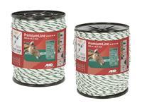 AKO Weidekabel Premium, 6,5 mm, 400 m, wit/groen