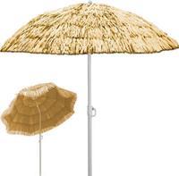 """Merkloos Parasol, zonnescherm, """"Hawai"""", Naturel"""