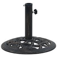 vidaXL Parasolvoet 9 kg 40 cm gietijzer zwart en bronskleurig