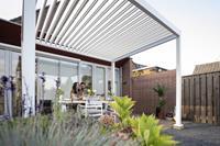 SUNS tuinmeubelen Rota | Terrasoverkapping | Mat Wit | 360x600x250cm