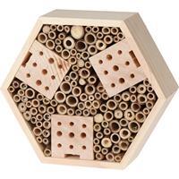 Eigen merk Insectenhotel hexagon naturel