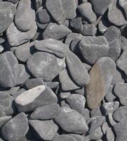 Flat Pebbles zwart Big Bag - 1500 kg