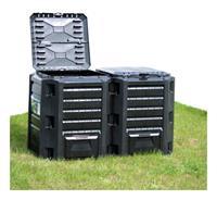 vidaXL Compostbak 1200 L zwart