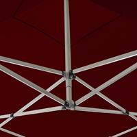 vidaXL Partytent inklapbaar met wanden 2x2 m aluminium bordeauxrood