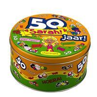 Merkloos Sarah 50 jaar snoeptrommel/voorraadtrommel - 50e verjaardag - cadeau / versiering