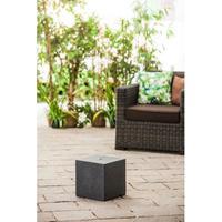 Blanco Terras fontein sokkel kubus zwart