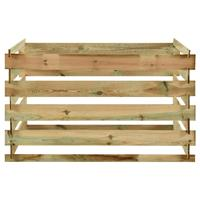 vidaXL Tuincompostbak gelat 120x120x70 cm geïmpregneerd grenenhout