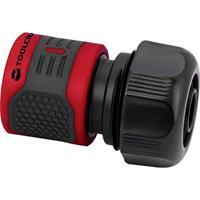 TOOLCRAFT 2302361 Slangkoppeling 16 - 19 mm (3/4) Rood, Zwart Aansluitgarnituur