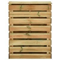 vidaXL Tuincompostbak gelat 80x50x100 cm geïmpregneerd grenenhout
