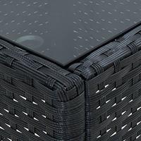 vidaXL Tuintafel 40x40x45 cm poly rattan zwart