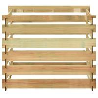 vidaXL Tuincompostbak gelat 100x100x80 cm geïmpregneerd grenenhout
