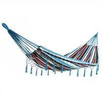 Detex Hangmat blauw 210x150cm met franjes