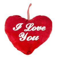 Pluche Hartje Rood Met Tekst I Love You - Valentijnsdag/moederdag Cadeaus En Feest Versieringen