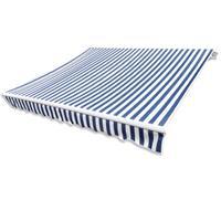 Vidaxl Luifeldoek 350x250 Cm Canvas Blauw En Wit