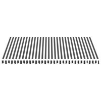 vidaXL Vervangingsdoek voor luifel 4,5x3 m antracietkleurig en wit