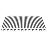 vidaXL Vervangingsdoek voor luifel 4,5x3,5 m antracietkleurig en wit