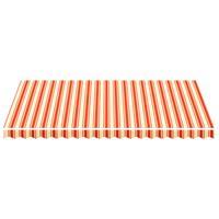 vidaXL Vervangingsdoek voor luifel 4,5x3 m geel en oranje