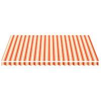 vidaXL Vervangingsdoek voor luifel 4,5x3,5 m geel en oranje