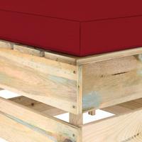 vidaXL Hocker sectioneel met kussen groen geïmpregneerd hout