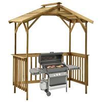 vidaXL Barbecue-overkapping 163,5x93x210 cm geïmpregneerd grenenhout