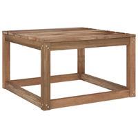 vidaXL Tuintafels 2 st pallet 60x60x36,5 cm geïmpregneerd grenenhout