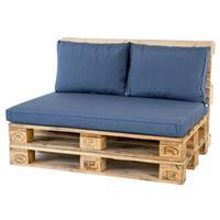 Palletkussenset Lounge Blauw - 3 Delig