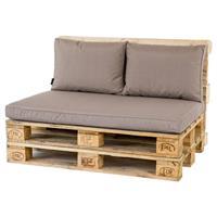 Palletkussenset Lounge Taupe - 3 Delig