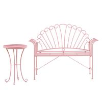 Beliani Balkonset metaal roze CAVINIA