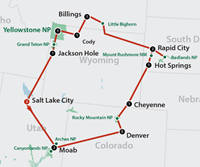 Old West Adventure (15 dagen) - Amerika - N-Westen+Rockies - Salt Lake City