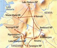 Beste van Oost-Afrika (14 dagen) - cat. Standard - Kenia - Nairobi