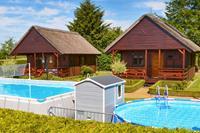 Ecologisch vakantiehuis in Domaslawice met zwembad