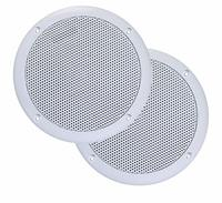 Badkameraudio Aquasound Jive Plus Speakers Inbouw Rond 18.5x6.5cm Wit