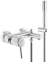 Concetto thermostatische badkraan met omstel en koppelingen met douchegarnituur