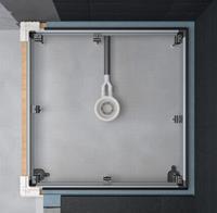 inbouw systeem universal 120 x 90 cm. staal