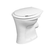 Eurovit staand toilet vlakspoel PK verhoogd (+6 cm), wit