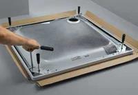 Floor douchevloerondersteuning staal (lxbxh) 1200x1200x80 - 200mm toepassing douchevloerdrager