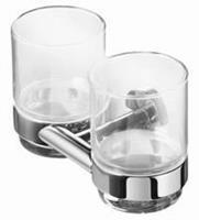 Nemox dubbele glashouder met 2 glazen, chroom