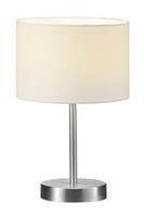 Met crèmekleurig textielscherm - tafellamp Risa